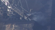 Stock Video Footage of Tagebau Hambach: bucket-wheel excavator in a lignite mine