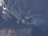 Tagebau Hambach: bucket-wheel excavator in a lignite mine Stock Footage