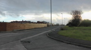 Stock Video Footage of Corner of road in old industrial estate