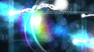 Light emitting streaks with particles Stock Footage