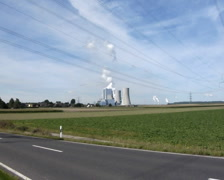 Ignite-fired power plant Grevenbroich-Neurath, Germany Stock Footage