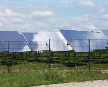 Mirrors of the concentrated solar power system Jülich, Germany Stock Footage