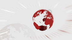 Stock Video Footage of News Intro, Spinning Globe Animation