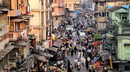 Busy Crawford Market, Mumbai, Uttar Pradesh, India Asia Stock Footage