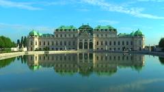 Belvedere Palace in Vienna, Austria Stock Footage