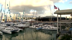 Boats in Miami Stock Footage