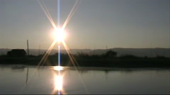 Inlay lake Burma sunset Stock Footage