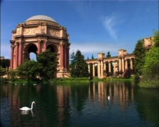 Palace of Fine Arts and Swan, San Francisco GFSD Stock Footage