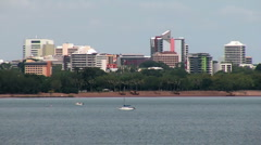 Darwin city overlooking fannie bay closeup Stock Footage
