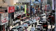 Busy Brigade road ( Main Shopping Street ), Bangalore, Kamataka, India Stock Footage