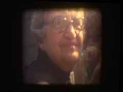 Close up of grandmothers face Stock Footage