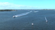 Stock Video Footage of Boats cruising on a sunny day h264