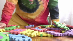 Little Boy Playing educational Toy Stock Footage