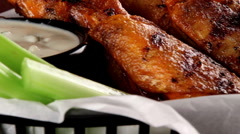 Buffalo wings Stock Footage