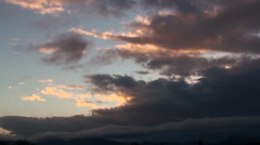 Stock Video Footage of Time Lapse Dark Cloud Swirl