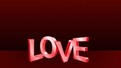 Love with flourishes Stock Footage