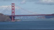 Stock Video Footage of SF Golden Gate Bridge MVI 4302