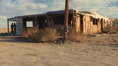 Salton Sea Abandoned Trailer Stock Footage