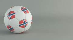 3D Render of spinning soccer ball Stock Footage