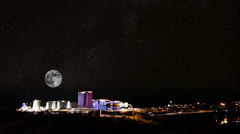 Laughlin Nevada-stars and moon time lapse 4563 Stock Footage
