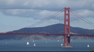 Stock Video Footage of SF Golden Gate Bridge MVI 4324