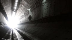 Tunnel construction 006 - stock footage