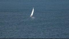 SF Bay Sailboat Stock Footage