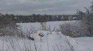 Snowy landscape. Stock Footage