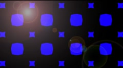 blue and black background with lens flare - stock footage
