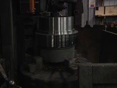 Cylinder On Spinning Machine Stock Footage