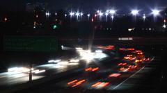 Los Aangeles Traffic Timelapse 2fps streaked lights2 Stock Footage