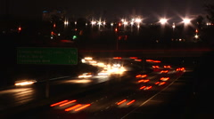 LA Traffic Timelapse 2fps streaked lights Stock Footage