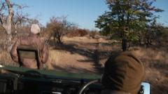 Africa Safari Jeep Ride2 POV Stock Footage