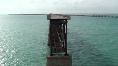 Bahia Honda Rail Bridge dead end 2 Stock Footage