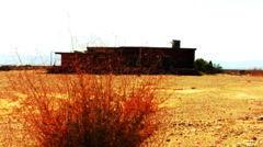 Abandoned Building In The Desert Stock Footage