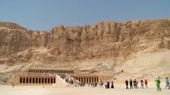Hatshepsut Temple Wide Shot Stock Footage