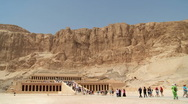 Stock Video Footage of Hatshepsut Temple Wide Shot