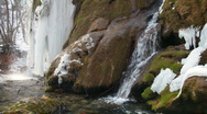 Waterfall in winter Stock Footage