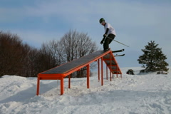 Freestyle Skiing - stock footage