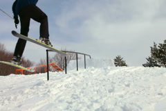 Freestyle Skiing Stock Footage