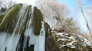 Stock Video Footage of waterfall in winter