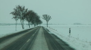 Stock Video Footage of Drive on a winter road