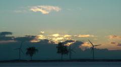 Timelapse wind generator landscape Stock Footage