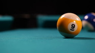 Stock Video Footage of nine ball shot