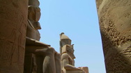 Stock Video Footage of Luxor Statues