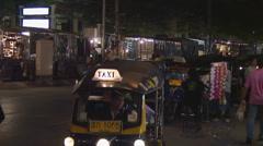 Thailand: Chiang Mai night bazaar Stock Footage