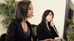 Stock Video Footage of call center assistants