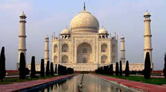 Majestic Taj Mahal in India - stock footage