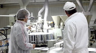 Packing of sugar in sugar factory Stock Footage