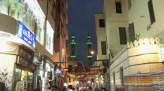 Aswan minarets Stock Footage